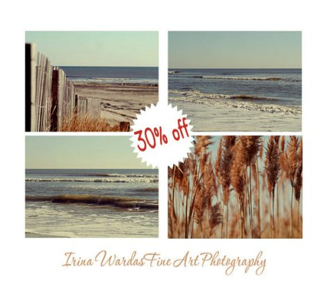 Gallery wall beach decor, beach photography set, rustic beach decor, mint blue brown nautical ocean wall art, 4 8x10 beach landscape prints