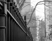 Black and white New York picture, New York City photography, Manhattan Broadway street, fence art, nyc print 11x14 New York wall art urban