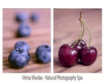Food photography set, kitchen wall art fruit photography, blueberry kitchen decor, cherry print, dining room wall art, modern kitchen art