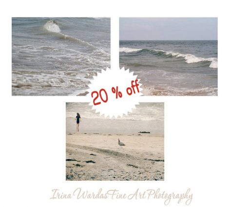 Ocean art photography, beach print set of 3 pictures of seaside 11x14 neutral beach bathroom decor, beige grey wall art nautical photography