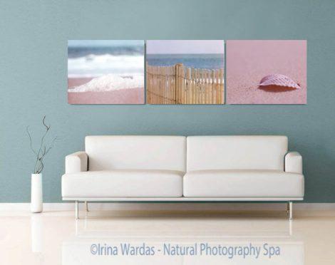 Beach canvas prints, coastal gallery wall set, beach photography set 3 canvas wraps, blue tan teal decor wall art living room, nautical art