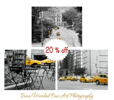 Black and white New York pictures street photography, new york city prints 11x14, NYC art print set, yellow taxi prints, New York cab