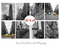 Black and white New York City photography set, nyc photo set of 8 prints, New York wall art decor, NYC art, 11x14m 8x10 prints of New York