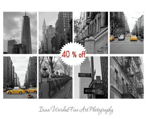 Black and white New York City photography set, nyc photo set of 8 prints, New York wall art decor, NYC art, 11x14m 8x10 prints of New York