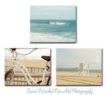 3 piece canvas set beach photography, aqua beige teal coastal wall art gallery wrapped canvas nautical pictures 8x10, beach house wall decor