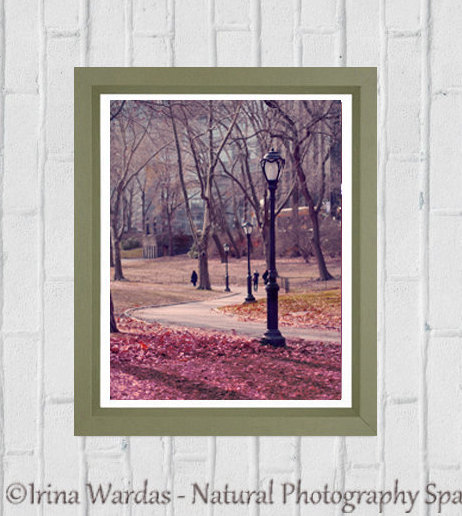 Central Park print, nyc art print 11x14, New York photography, city park picture, vertical art, New York decor, office wall art, foyer decor