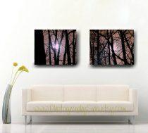 Tree canvas art set, tree abstract photography set, black bronze brown artwork large wall decor gallery wrap, minimalist canvas modern decor
