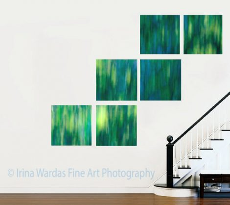 5 panel canvas abstract art, teal green contemporary art, blue mint 6 panel art, 3 piece square canvas 20x20 16x16 4 piece modern wall decor