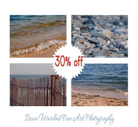 Lake photography set, 4 beach prints 11x14, 8x10, tan navy blue coastal wall art, lake house decor, pictures of seaside, grey light brown