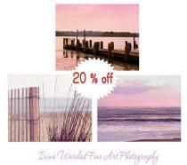 Lake photography set, pink sunset prints, pink purple nautical art, beach print set, beach sunset pictures, lake house decor, lake wall art