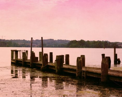 Lake photography, sunset art, pier dock picture, brown pink beach cottage wall art, lake house decor coastal artwork, nautical art print