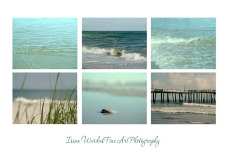 Set of 6 ocean prints, ocean photography set, mint and teal beach wall art, nautical gallery wall, beach wall decor, beach bathroom art 8x10