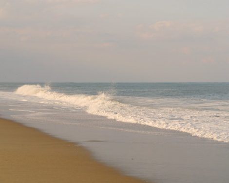 Seascape photography, beach landscape, brown ochre aqua blue seashore wall art, sea photography nautical wall art print relaxing ocean art