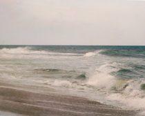 Coastal wall decor, beach art print ocean photography, waves wall art, surf wall decor, seashore art print, brown teal nautical gallery wall