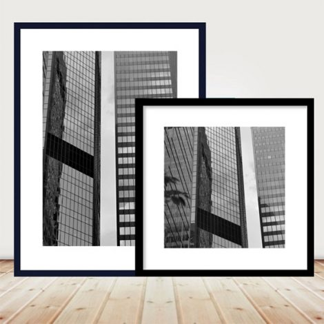 Black and white architecture prints, modern abstract photography set of 2 pictures, large geometric wall art minimal wall decor, Pittsburgh