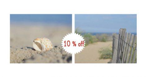set of 2 beach prints