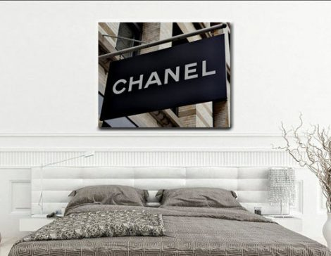 Chanel art, Coco Chanel shop sign, chanel decor, Chanel boutique store, fashion canvas art, large canvas print chanel wall art girls bedroom