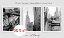 Black and white New York photography, New York City photo set of 3 11x14, 8x10 prints, urban wall art decor, NYC print set, New York decor