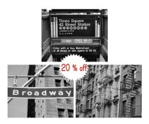 New York City photography set 3 11x14 black and white prints, New York street decor NYC wall art set, Broadway sign Time Square subway, Soho