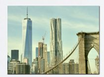 New York canvas, New York City skyline, large wall art, nyc canvas wrap 16x20, 24x36 Brooklyn Bridge, Freedom Tower, New York wall decor