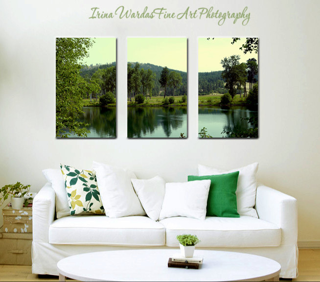 3 Panel Wall Art Nature Photography Lake Canvas Split Extra Large