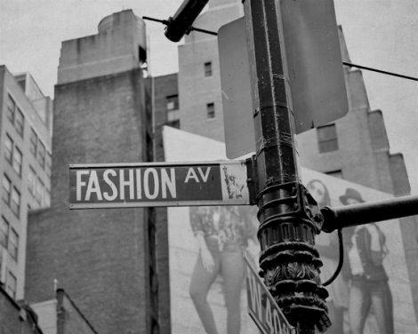 Black and white urban photography New York City Fashion Avenue street sign print 11x14, dorm wall art, gift for teen girl wall art decor