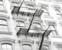 White wall art, New York City architecture print, modern wall decor, large photograph, apartment building, urban photo print, New York art