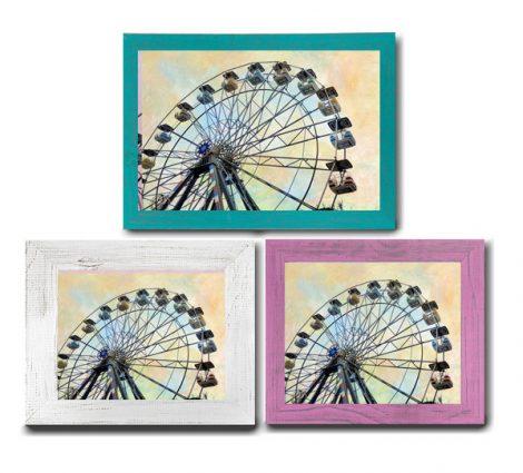 Framed nursery art, nursery decor, framed nursery print, carnival ferris wheel framed photograph 5x7, 8x10, 11x14, baby girl room wall art