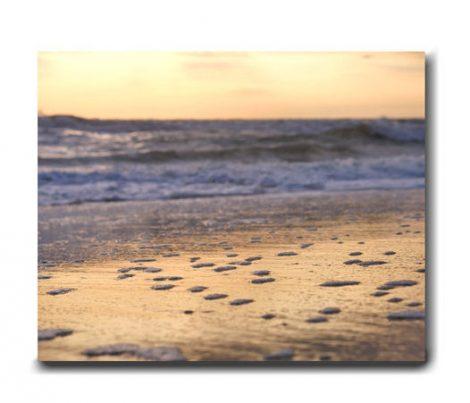 Sunset canvas art, fine art photography beach canvas print, grey peach gold wall art, nautical large wall decor, ocean beach canvas artwork