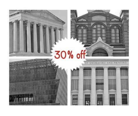Architecture prints DC black and white photography, Washington DC wall art pictures decor, Jefferson memorial, Smithsonian National museum
