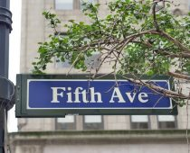 5th avenue sign, New York street sign, Fifth ave street sign print, New York City Manhattan wall art print, NYC decor black & white option