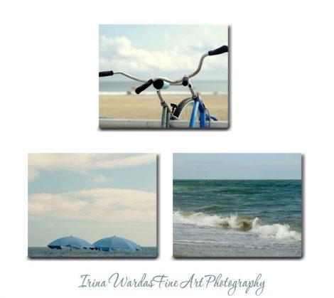 Extra large wall art, canvas wraps, beach wall art set 3 piece canvas prints, blue beige teal nautical bedroom wall decor coastal wall art,