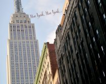 New York City print Empire State building New York photograph, nyc wall art office, architecture art New York typography, urban travel decor