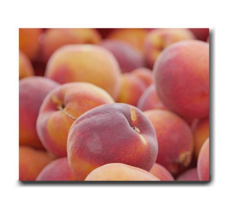 Kitchen canvas art, peach fruit photography, large fruit wall art, dining room canvas print, frut canvas art, kitchen decor, kitchen gift