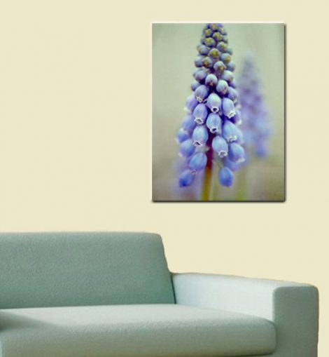 Metal wall art, floral metal photography, mint and blue art flower metal artwork, floral print picture metal photo print, aluminum print