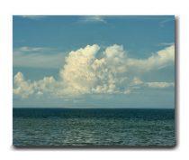 Ocean beach canvas photography, large cloud canvas art, blue teal canvas wall decor, sea seascape nature canvas artwork, large wall art