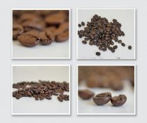 Coffee beans art print set of 4, coffee beans photography, modern kitchen coffee decor, coffee lovers gift, coffee shop decor cafe wall art
