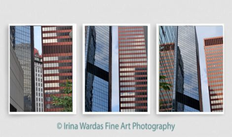 Modern architecture gallery wall prints, architecture gift photography set 3 vertical large prints, Pittsburgh skyscraper geometric abstract