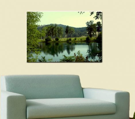 Metal photo print, metal artwork, nature photography metal wall art, green mint large wall art, metal art wall decor landscape art, scenery