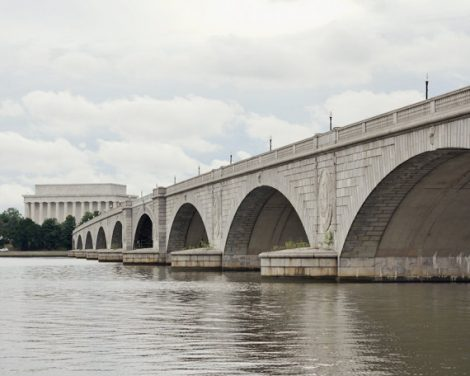 Washington DC, Linkcoln Memorial Bridge photography, DC art print, arc bridge picture, Potomac river, DC architecture art urban wall decor