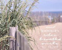 Beach quote photography, sea grass sand dune seashore coastal beach life, inspirational beach saying wall art decor, cottage seaside print