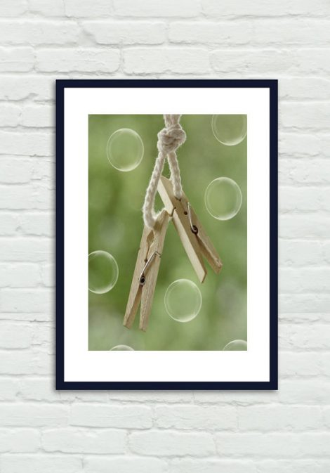 Laundry room decor, clothespins picture, large photography, country home decor, soap bubbles, still life print 18x24, vertical wall art