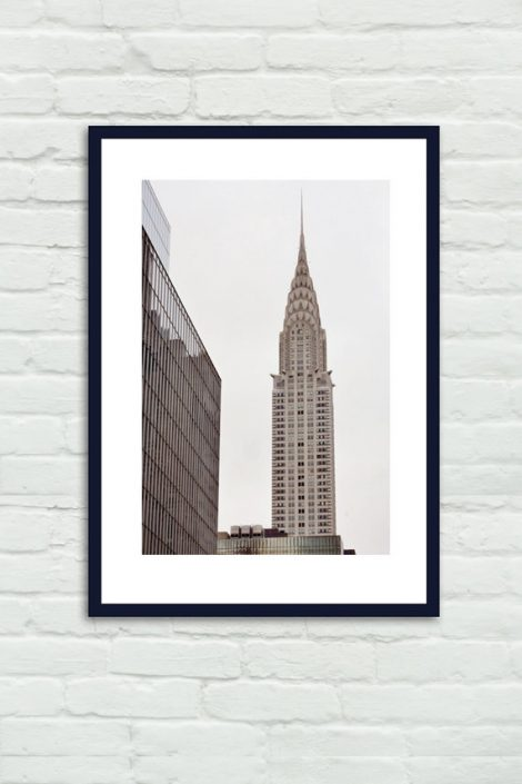New York City decor, New York skyscraper wall art Chrysler Building, city art print, nyc architecture large phototography print vertical art