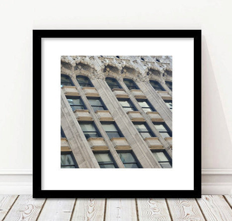 Architecture print, windows photography, home office picture, large art print teal grey wall art, building abstract architectural wall decor