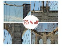 Brooklyn Bridge photography, Brooklyn Bridge prints 8x10, 11x14 gallery wall set of 4 Brooklyn Bridge wall art pictures, architecture decor