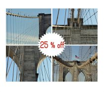 Brooklyn Bridge photography, Brooklyn Bridge prints 8x10, 11x14 gallery wall set of 4 Brooklyn Bridge wall art pictures, architecture decor