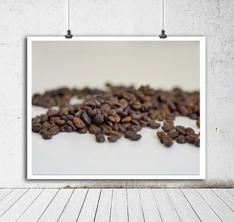 Modern coffee photography, coffee bean art, coffee wall art, cafe wall art coffee lovers gift cofee art print, coffee shop art kitchen decor