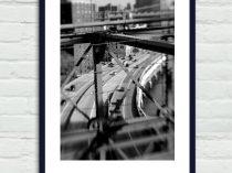 Black and white industrial print, New York photography, New York City print, Brooklyn Bridge, urban art nyc art print vertical, gift for men