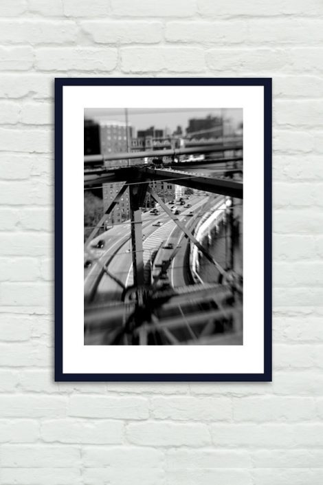 Black and white industrial print, New York photography, New York City print, Brooklyn Bridge, urban art nyc art print vertical, gift for men