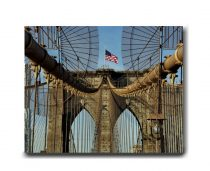 Brooklyn Bridge art canvas photograph, New York canvas art, bridge architecture, brooklyn bridge wall art canvas large industrial wall decor